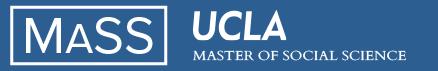 UCLA Master of Social Science (MaSS) Logo